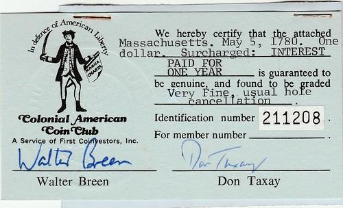 Breen-Taxay certificate front