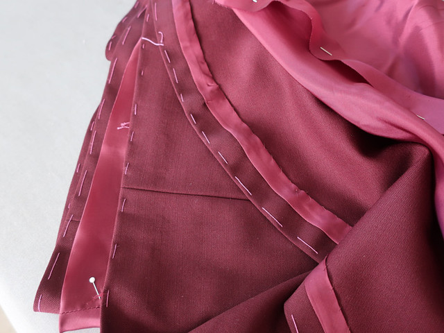 maroon skirt with lining