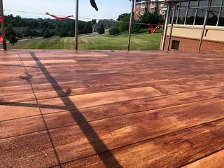 Rustic Concrete Wood Patio- Harrisonburg Epoxy Flooring- Harrisonburg, VA