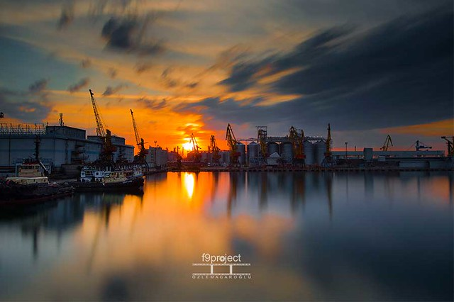 gold hours at the Odessa Port.............