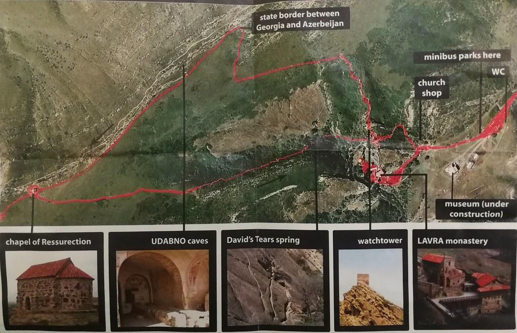 Map of Davit Gareja monastery complex