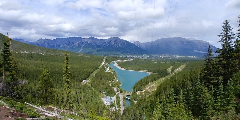 The view towards Canmore from Grassi Lakes Trail