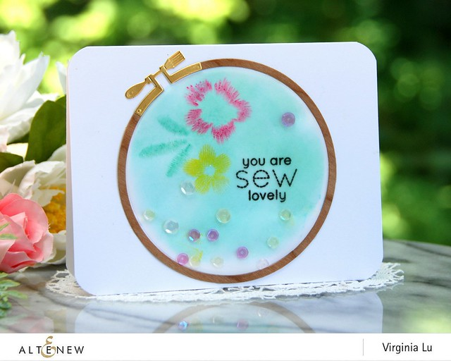 Altenew-CircleEmbroideryHoopDie-EmbroideredStamp-Virginia#1