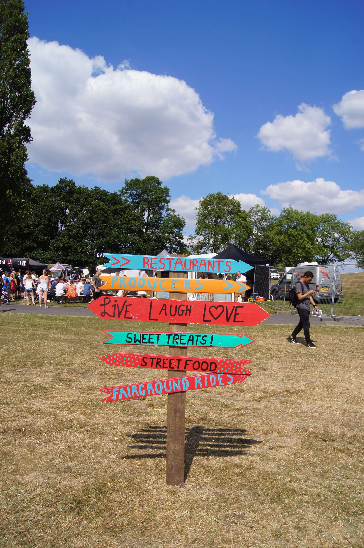 Manchester Eats Festival - signpost