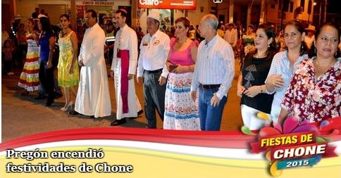 Pregón encendió festividades de Chone