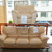 3+1 cream leatherette suite E250 the set
