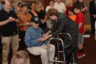 Martin Gelb receives OSS Congressional Gold Medal