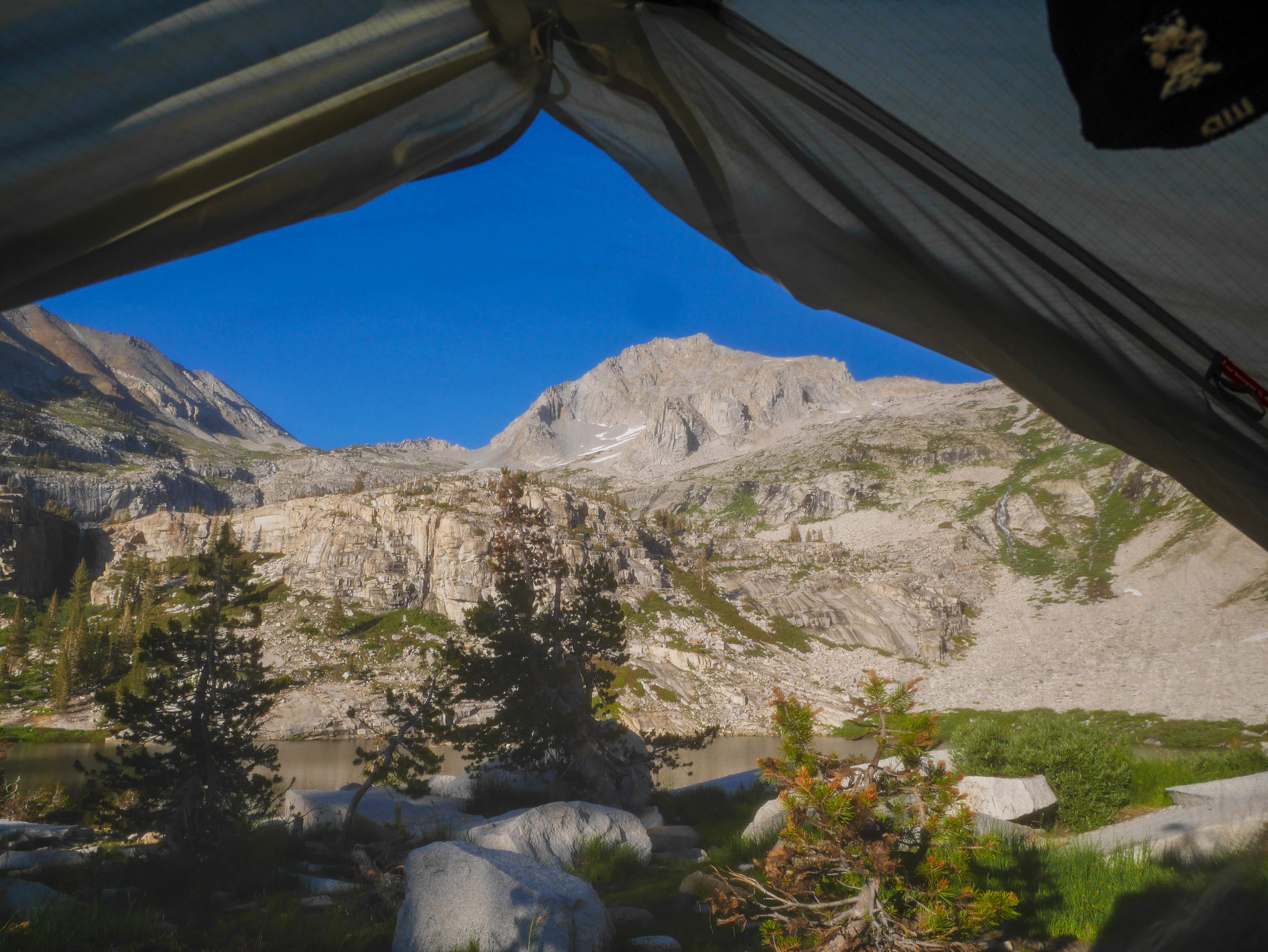 Tent view at Tamarack Lake