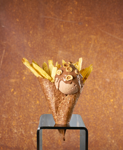 Hot chips in a cone ice cream at Giapo. From 5 Things to Do in Auckland for Educators