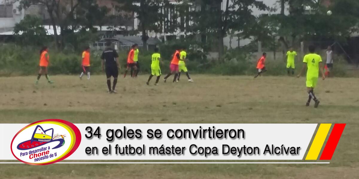 34 goles se convirtieron en el futbol máster Copa Deyton Alcívar