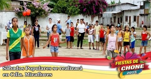 Sábados Populares se realizará en Cdla. Miraflores