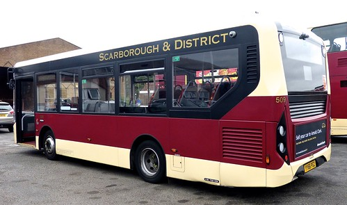 YY66 PGZ 'East Yorkshire Motor Services'  No. 509 'Scarborough and District'. Alexander Dennis Ltd. E20D / Alexander Dennis Ltd.Enviro 200 /1 on Dennis Basford's railsroadsrunways.blogspot.co.uk'