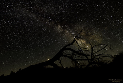 Shell Creek road Milky Way with Mars rising - Explored