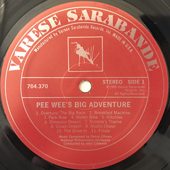 DANNY ELFMAN:PEE-WEE'S BIG ADVENTURE(LABEL SIDE-A)