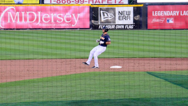 Tim Tebow Pulling into Second Base at the Eastern League All Star Game