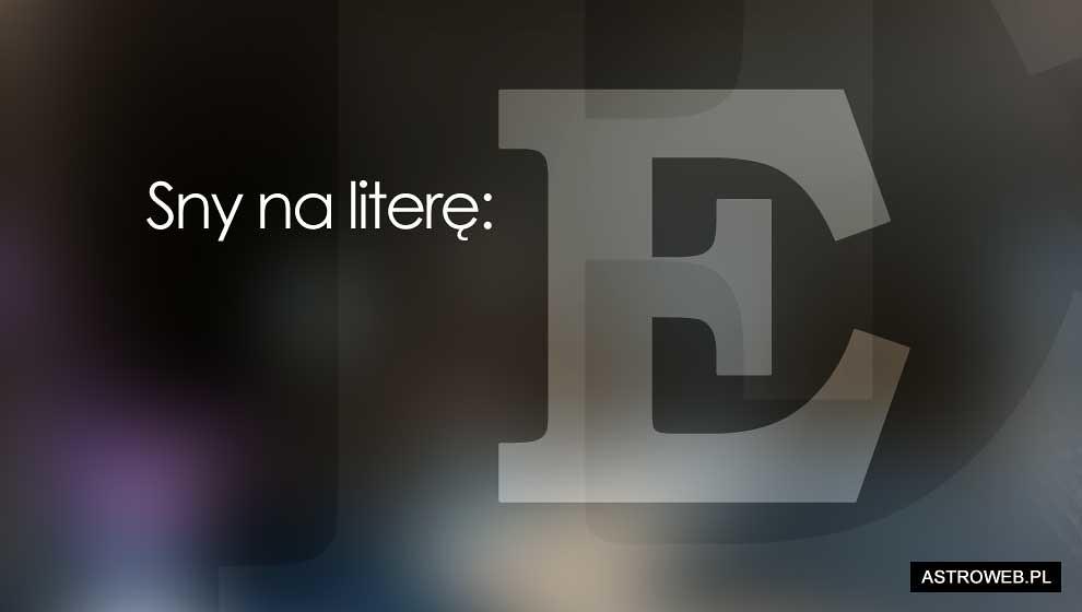 Sennik litera E