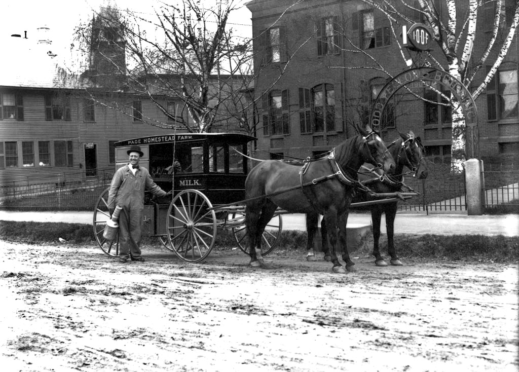 Milk delivery in Keene, New Hampshire