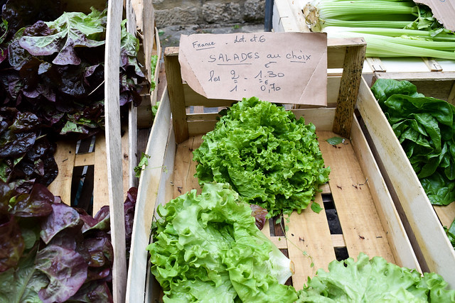 Lettuce at Sarlat Market, South West France #lettuce #salad #sarlat #market #farmersmarket #france #dordogne