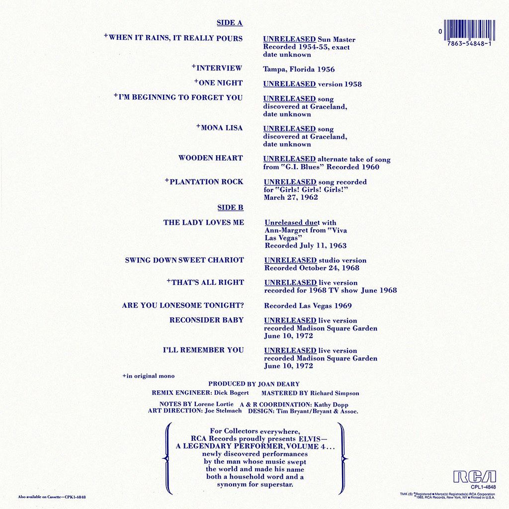 Elvis Presley - A Legendary Performer Volume 4