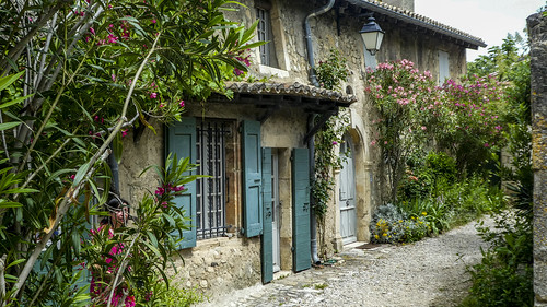 a couple of pretty properties at Mirmande, France, Drome Department.