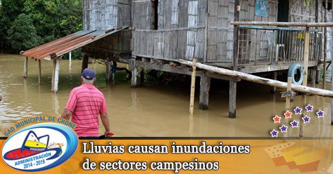 Lluvias causan inundaciones de sectores campesinos