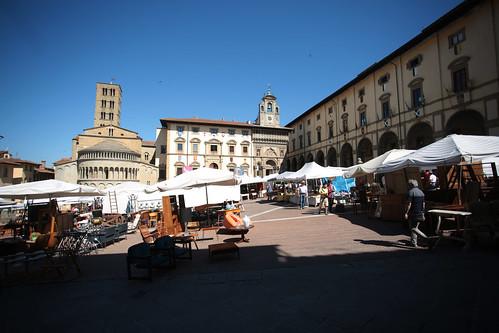Arezzo: la piazza centrale