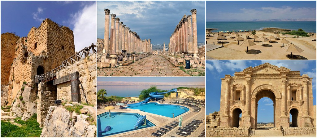 Jerash Ajlun Morze Martwe, Jordania