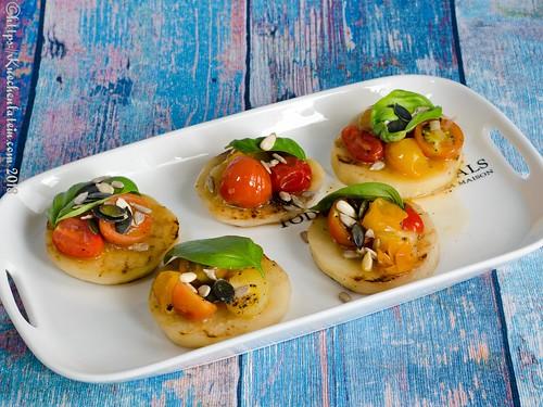 Gegrillte Kohlrabi-Canapés mit Tomaten-Kompott (1)