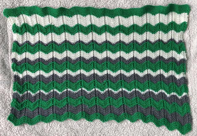 Ballyhoura Baby Blanket - free knitting pattern. Read about it on EvinOK.com