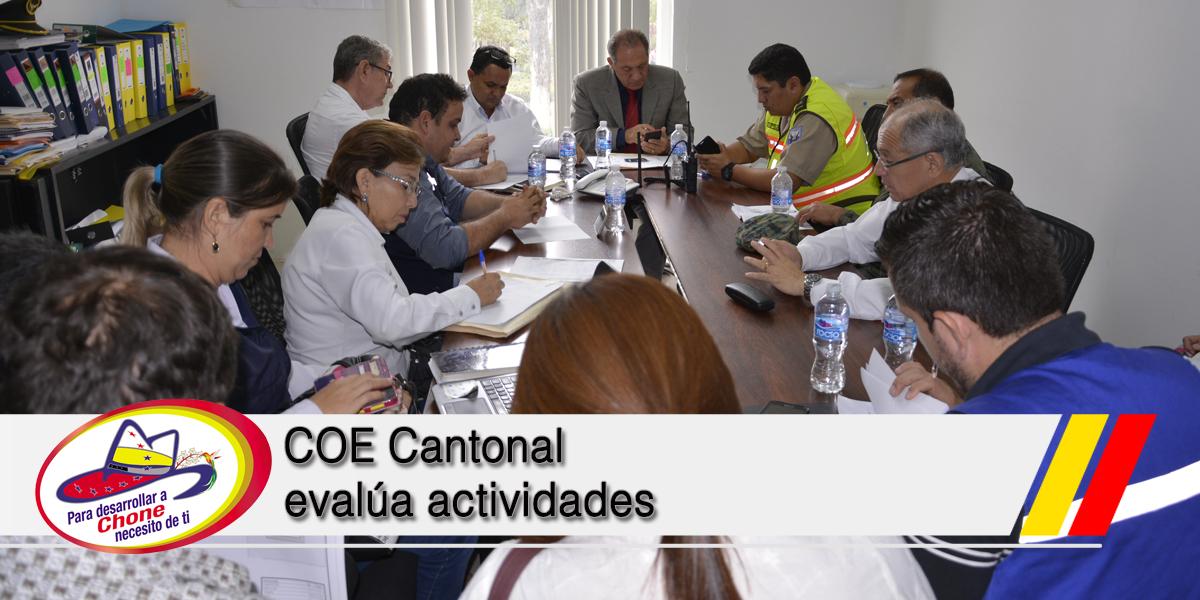 COE Cantonal evalúa actividades
