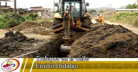 Trabajos en la calle Emilio Hidalgo