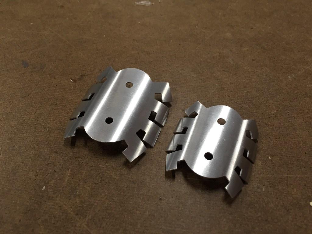 Slip rolled aluminum pieces