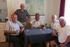 Gruppenbild mit der sonntäglichen Billeder Kartenpartie