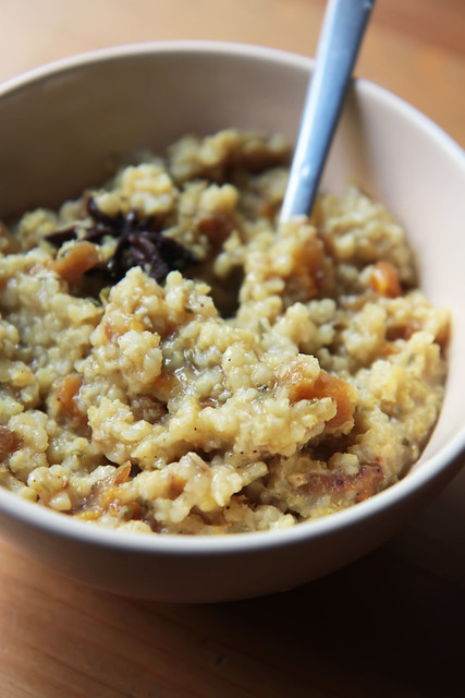 Millet Porridge with Dry Apricots and Pumpkin Seeds