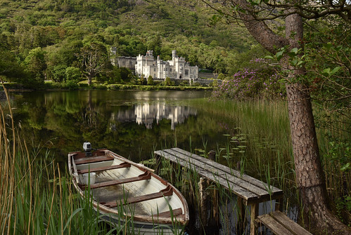 irlande comtédegalway kylemoreabbey nikon d810 abbaye château castle reflet reflection