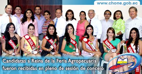 Candidatas a Reina de la Feria Agropecuaria fueron recibidas en pleno de sesión de concejo