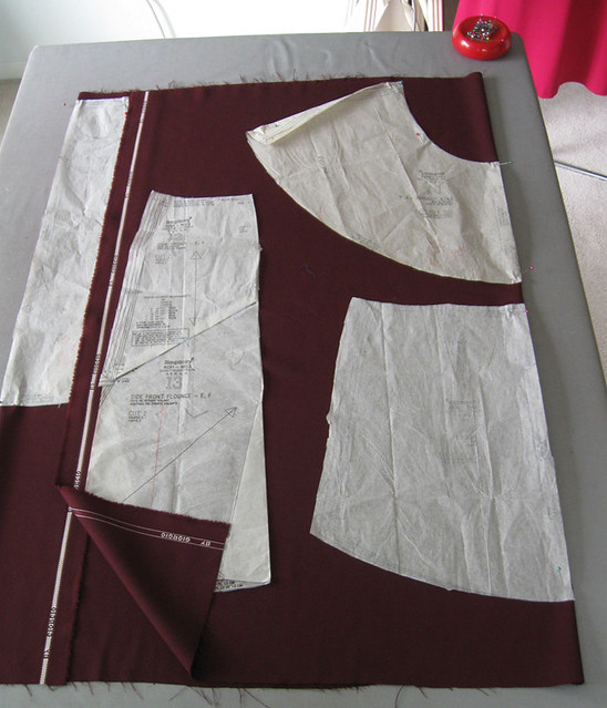 maroon skirt cutting out 2
