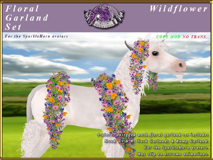 E-SparkleHorn-GarlandSet-Wildflower - TeleportHub.com Live!