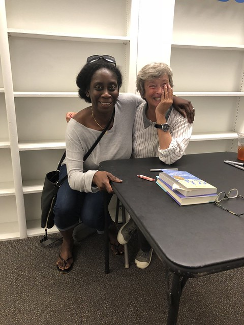 With the delightfully down-to-earth Jeanne Birdsall in Haverford, PA in June