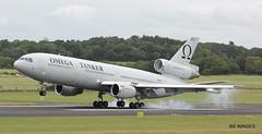 N974VV Omega Air McDonnell Douglas DC-10-40 Omega10 arriving at Prestw