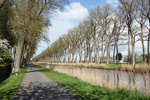 Bicycling along the Damme Canal
