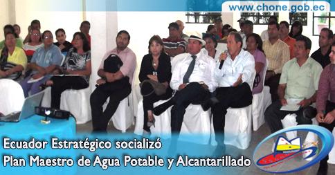 Ecuador Estratégico socializó Plan Maestro de Agua Potable y Alcantarillado