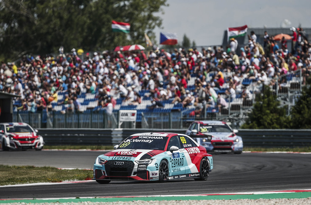 69 VERNAY Jean-Karl, (fra), Audi RS3 LMS TCR team Audi Sport Leopard Lukoil, action during the 2018 FIA WTCR World Touring Car cup race of Slovakia at Slovakia Ring, from july 13 to 15 - Photo Jean Michel Le Meur / DPPI