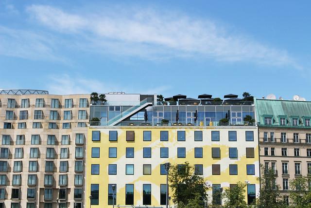 immeubles jaunes et verts Berlin