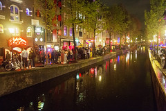 Night time in Amsterdamp