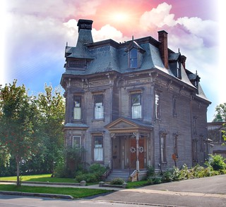 Plattsburgh New York - Historic Victorian Architecture - Mansard