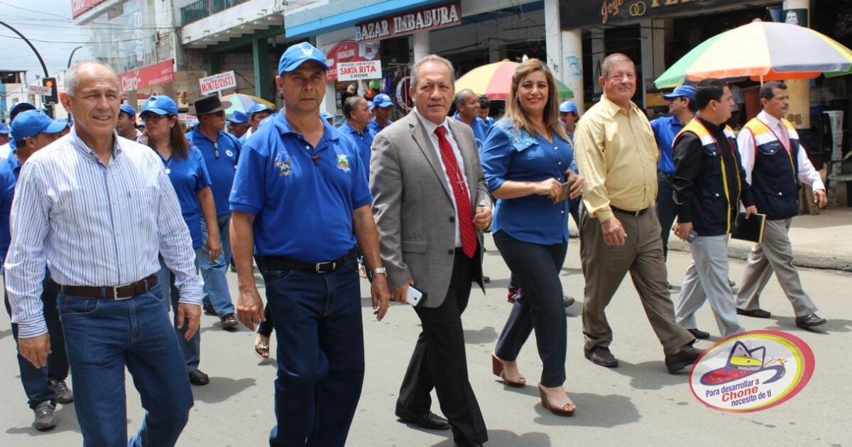 Alcalde de Chone participó de eventos de Brigadistas Comunitarios