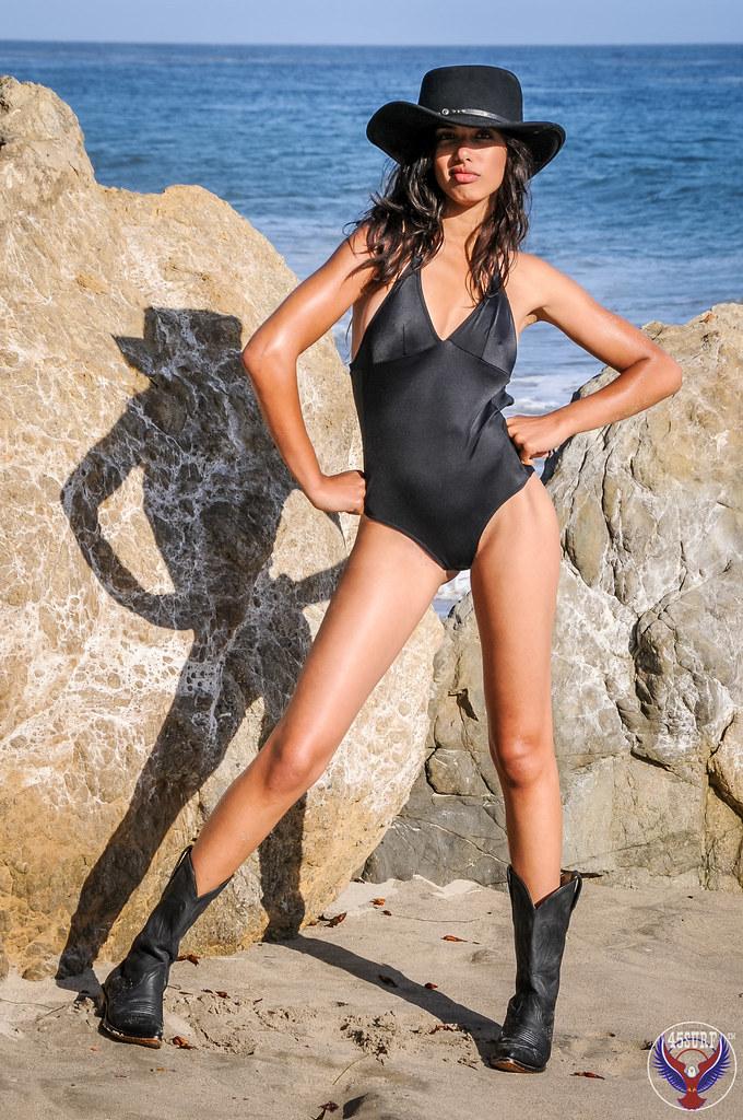 c9a8bd451f9 Beautiful Swimsuit Bikini Cowgirl Model in Cowboy Hat   Cowboy Boots! Tall