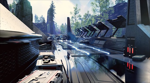 Islands of Nyne - Futuristic Walkway