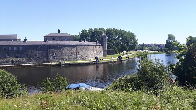 An old castle across a small lake. Enniskillen Castel, Enniskillen.